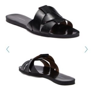 NWT Woven Faux Leather Sandal